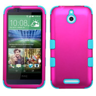 Military Grade TUFF Hybrid Case for HTC Desire 512 / 510 - Hot Pink Teal