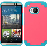 *Sale* Fusion Multi-Layer Hybrid Case for HTC One M9 - Hot Pink Teal