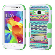 Military Grade Certified TUFF Image Hybrid Kickstand Armor for Samsung Galaxy Core Prime / Prevail LTE - Tribal Sun