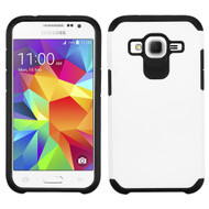 Hybrid Multi-Layer Armor Case for Samsung Galaxy Core Prime / Prevail LTE - White
