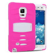 *Sale* Maximum Armor Hybrid Case for Samsung Galaxy Note Edge - Hot Pink White