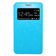 *Sale* Interactive Leather Folio Hybrid Case for Samsung Galaxy Note Edge - Blue