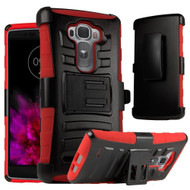 *Sale* Advanced Armor Hybrid Kickstand Case with Holster for LG G Flex 2 - Black Red