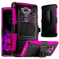 *Sale* Advanced Armor Hybrid Kickstand Case with Holster for LG G Flex 2 - Black Hot Pink