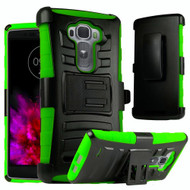 *Sale* Advanced Armor Hybrid Kickstand Case with Holster for LG G Flex 2 - Black Green
