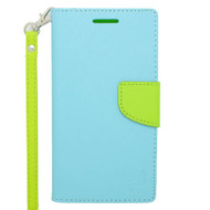 *Sale* Leather Wallet Shell Case for HTC Desire 512 / 510 - Baby Blue