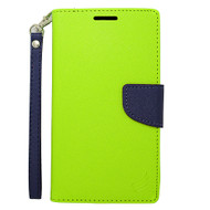 Leather Wallet Shell Case for Samsung Galaxy Note Edge - Green