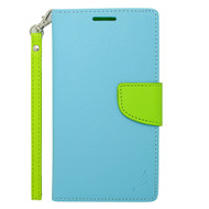 *Sale* Leather Wallet Shell Case for Samsung Galaxy Note Edge - Baby Blue