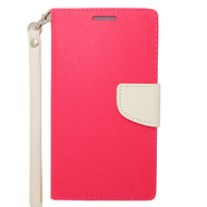 *Sale* Leather Wallet Shell Case for Samsung Galaxy Note Edge - Hot Pink
