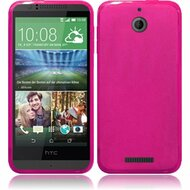 *Sale* Rubberized Crystal Case for HTC Desire 512 / 510 - Hot Pink