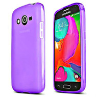 Rubberized Crystal Case for Samsung Galaxy Avant - Purple