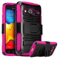 *Sale* Advanced Armor Hybrid Kickstand Case with Holster for Samsung Galaxy Avant - Black Hot Pink
