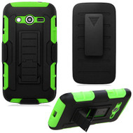 Robust Armor Stand Protector Cover with Holster for Samsung Galaxy Avant - Black Green