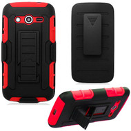 Robust Armor Stand Protector Cover with Holster for Samsung Galaxy Avant - Black Red