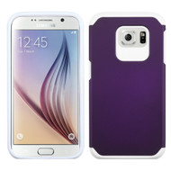 Hybrid Multi-Layer Armor Case for Samsung Galaxy S6 - Purple White