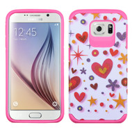 Hybrid Multi-Layer Armor Case for Samsung Galaxy S6 - Heart Graffiti