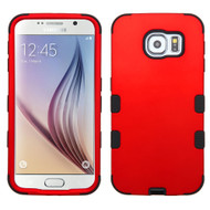 Military Grade Certified TUFF Hybrid Case for Samsung Galaxy S6 - Red