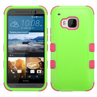 *Sale* Military Grade TUFF Hybrid Case for HTC One M9 - Green Hot Pink