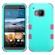 *Sale* Military Grade TUFF Hybrid Case for HTC One M9 - Teal Hot Pink