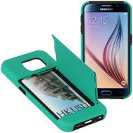 *SALE* CardStand Credit Card Hybrid Case for Samsung Galaxy S6 - Teal