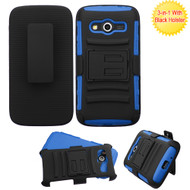 Advanced Armor Hybrid Kickstand Case with Holster for Samsung Galaxy Avant - Black Blue