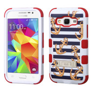 Military Grade Certified TUFF Hybrid Kickstand Armor for Samsung Galaxy Core Prime / Prevail LTE - Nautical