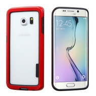 Snap-On Hybrid Bumper Case for Samsung Galaxy S6 Edge - Red