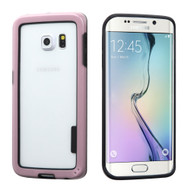 Snap-On Hybrid Bumper Case for Samsung Galaxy S6 Edge - Pink
