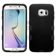 Military Grade Certified TUFF Hybrid Case for Samsung Galaxy S6 Edge - Black