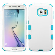 Military Grade Certified TUFF Hybrid Case for Samsung Galaxy S6 Edge - White Teal