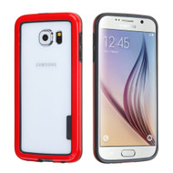 Snap-On Hybrid Bumper Case for Samsung Galaxy S6 - Red