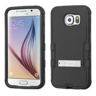 Military Grade Certified TUFF Hybrid Kickstand Case for Samsung Galaxy S6 - Black