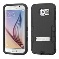 Military Grade Certified TUFF Hybrid Kickstand Case for Samsung Galaxy S6 - Black