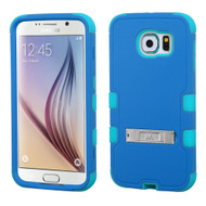 Military Grade Certified TUFF Hybrid Kickstand Case for Samsung Galaxy S6 - Blue Teal