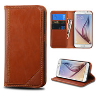 *SALE* Mybat Genuine Leather Wallet Case for Samsung Galaxy S6 - Brown