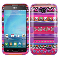 *$1 SALE* Military Grade TUFF Image Hybrid Case for LG Optimus L90 - Tribal Fashion