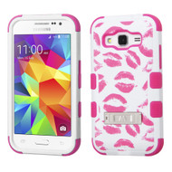Military Grade Certified TUFF Image Hybrid Kickstand Armor for Samsung Galaxy Core Prime / Prevail LTE - Kisses