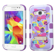 Military Grade Certified TUFF Image Hybrid Kickstand Armor for Samsung Galaxy Core Prime / Prevail LTE - Peace Ladybugs