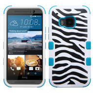 *Sale* Military Grade TUFF Image Hybrid Case for HTC One M9 - Zebra Teal