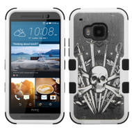 *Sale* Military Grade TUFF Image Hybrid Case for HTC One M9 - Sword and Skull