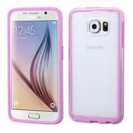 Bumper Frame Transparent Hybrid Case for Samsung Galaxy S6 - Purple