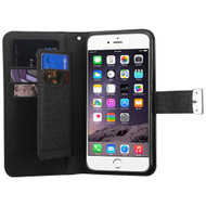 *SALE* D'Lux Leather Wallet Stand Case for iPhone 6 Plus / 6S Plus - Black