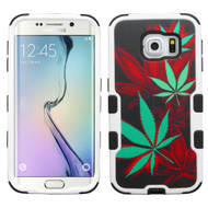 Military Grade Certified TUFF Image Hybrid Case for Samsung Galaxy S6 Edge - Cannabis
