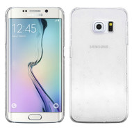 3D Water Drop Transparent Cover for Samsung Galaxy S6 Edge - White