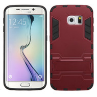 Hybrid Robo Kickstand Case for Samsung Galaxy S6 Edge - Red