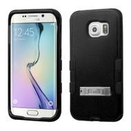 Military Grade Certified TUFF Hybrid Kickstand Case for Samsung Galaxy S6 Edge - Black