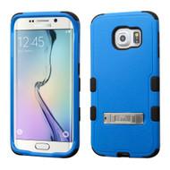 *Sale* Military Grade TUFF Hybrid Kickstand Case for Samsung Galaxy S6 Edge - Blue