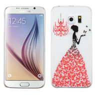 Snap-On Diamond Image Case for Samsung Galaxy S6 - Butterfly Gown