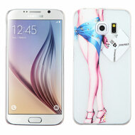 Snap-On Diamond Image Case for Samsung Galaxy S6 - Legs Blue
