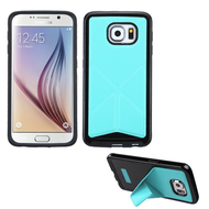 Bumper Frame Multi-View Hybrid Case for Samsung Galaxy S6 - Baby Blue